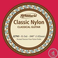 Струни для класичної гітари D`ADDARIO J2703 CLASSIC NYLON NORMAL TENSION - 3RD