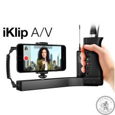 Тримач для смартфона/камери, вбудований мікрофонний підсилювач (XLR вход) з фантомним живленням
