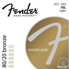 Струни для акустичної гітари, Fender 70L 12-52