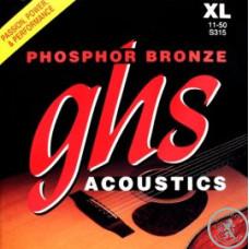 труни для акустичної гітари,GHS STRINGS S315 PHOSPHOR BRONZE