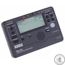 Цифровий тюнер-метроном Korg TM50-BK