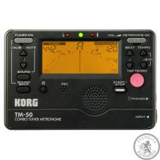 тюнер-метроном Korg TM-50C-BK і контактний п'єзомікрофон CM-200