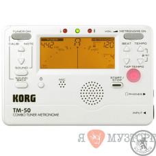 Цифровий тюнер-метроном Korg TM50-PW