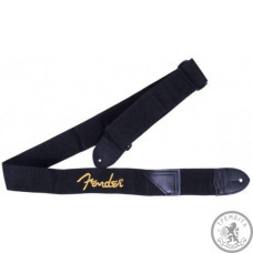 Ремінь для гітари FENDER STRAP 2' BLACK/YELLOW LOGO