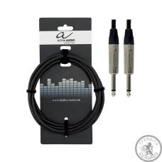 Кабель інструментальний Alpha Audio mono jack x2 (3м)