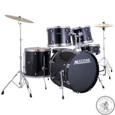 Барабанна установка з тарілками MAXTONE MXC3005 Black Metal lugs (760x600x570) 38 кг