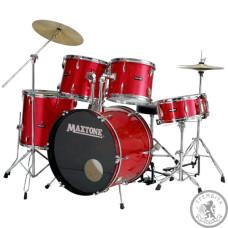 Барабанна установка з тарілками MAXTONE MXC110 wine red Metal lugs