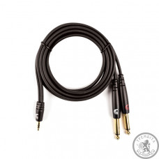 """PLANET WAVES PW-MPTS-06 Custom Series 1/8"""" to Dual 1/4"""" Audio Cable"""