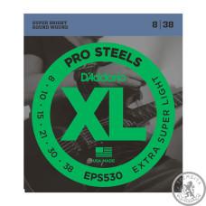 D`ADDARIO EPS530 XL PRO STEELS EXTRA SUPER LIGHT 08-38