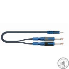 QUIK LOK RKSA140-2 RokSolid  Інсертний кабель стерео міні-джек 3,5 мм на 2 моно джека 6
