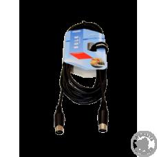 Кабель PROEL BULK410LU5 MIDI 5- контактний DIN - 5- контактний DIN, 5 м.