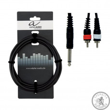 Кабель Alpha Audio 1stereo jack/ 2 RCA (тюльпан 1.5м)