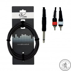 Кабель Alpha Audio 1stereo jack/ 2 RCA (тюльпан 3м)