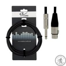 Кабель микрофонный Alpha Audio XLR (п) x mono jack (1,5 м)