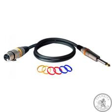 Микрофоны кабель (готовый) канон папа - джек папа моно ROCKCABLE RCL30381 D6 F