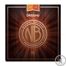 Струны для акустической гитары D`ADDARIO NB1047 NICKEL BRONZE EXTRA LIGHT 10-47