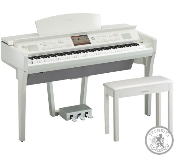Цифрове Піаніно Clavinova YAMAHA CVP709PWH (Polish White)