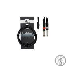 Y-образний кабель Alpha Audio Basic 190.125, 1 стереоджек 3,5мм - 2 моноджек 6,3мм