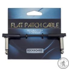 Патч-кабель Джек(кут)-джек(кут) RockBoard RBOCABPC F5 BLK FLAT PATCH CABLE
