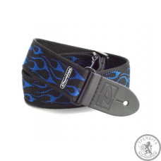 Ремінь гітарний DUNLOP D38-11 FLAMBE Blue