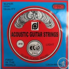 Струни для акустичної гітари ELO .010 - .046