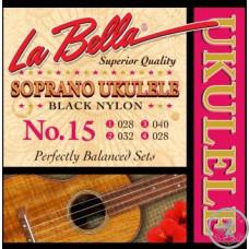 Струни для укулеле  La Bella 15