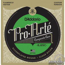 Струни для Класичної гітари D'ADDARIO EJ25C PRO-ARTE COMPOSITE FLAMENCO CLEAR NYLON