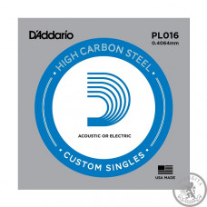 Струна D`ADDARIO PL016 Plain Steel 016