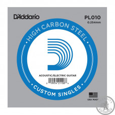Струна D'ADDARIO PL010 Plain Steel