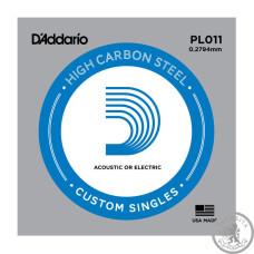 Струна D'ADDARIO PL011 Plain Steel