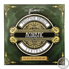 Струни для Акустичної гітари FRAMUS 47210 PHOSPHOR BRONZE EXTRA LIGHT (10-46)