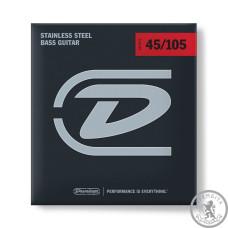 Струни для Бас - гітари DUNLOP DBS45105 STAINLESS STEEL MEDIUM 45-105
