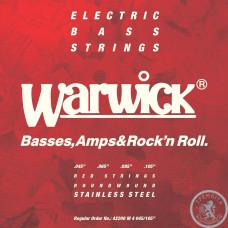 Струни для Бас - гітари WARWICK 42200 RED LABEL M4 (45-105)