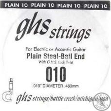 Струни  для електрогітари,  GHS STRINGS 010