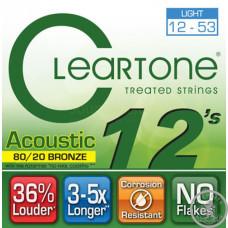Струни для Акустичної Гітари CLEARTONE 7612