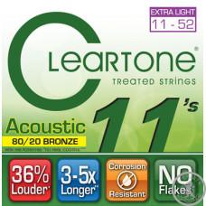 Струни для Акустичної Гітари CLEARTONE 7611 ACOUSTIC 80/20 BRONZE ULTRA LIGHT 11-52