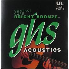 Струни для акустичної гітари GHS CCBB10