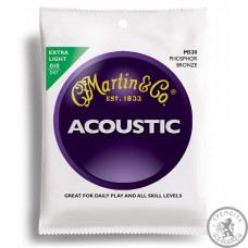 Струни для акустичної гітари (10-47) MARTIN M530 Traditional 92/8 Phosphor Bronze Extra Light 10-47