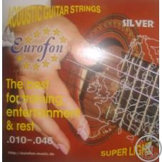 Струни для Акустичної Гітари EUROFON срібло