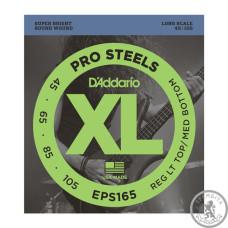 Струни для Бас-гітар D`ADDARIO EXL165 XL REG LIGHT TOP / MED BOTTOM 45-105