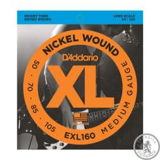 Струни для Бас-гітар D`ADDARIO EXL160 XL MEDIUM 50-105