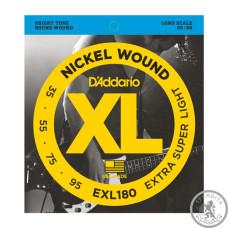 Струни для Бас-гітар D`ADDARIO EXL180 XL EXTRA SUPER LIGHT 35-95