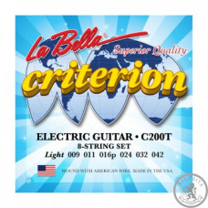 Струни для Електрогітари La Bella C200T Criterion Electric Guitar, Nickel-Plated