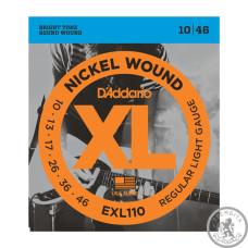 Струны для электрогитары D`ADDARIO EXL110 XL REGULAR LIGHT (10-46)