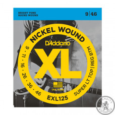 Струны для электрогитары D`ADDARIO EXL125 XL SUPER TOP / REGULAR BOTTOM (09-46)