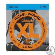 Струни для Електрогітар D`ADDARIO EXL140 XL LIGHT TOP / HEAVY BOTTOM (10-52)