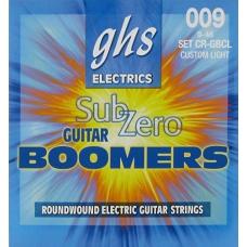 Струни для електрогітари  GHS CR-GBCL для електрогітари серії Sub-Zero Boomers