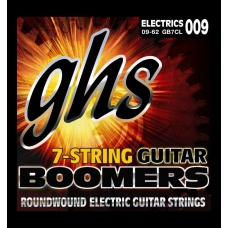 Струни для електрогітари GHS GB7CL Boomers, 009  011  016  DY26  DY32  DY44