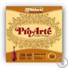 Струни для скрипки 4/4 D'Addario J56 4/4M ProArte (steel E)