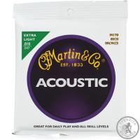 Струна для акустической гитары (10-47) MARTIN M170X Traditional 80/20 Bronze Extra Light 10-47